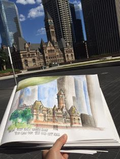 Toronto Urban Sketchers : The Old City Hall view from Toronto City Hall Green Roof Toronto City, Urban Sketchers, Nice Place, Old City, 2nd Floor, Old Things, Places, Green, Lugares