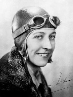 Amy Johnson was the first female pilot to fly alone from Britain to Australia. She set numerous long-distance records during the Amy Johnson, Female Pilot, Croydon, Vintage Horror, Head & Shoulders, Friends Tv, Women In History, Aviation, Yorkshire