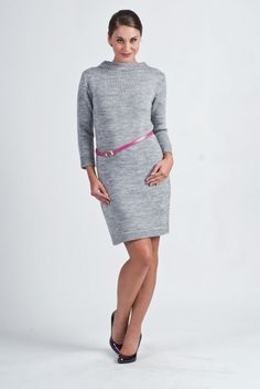 Akryl 80 % Polamid 20 % Size Total lenght Sleeve external lenght Chest L 87 cm 46 cm 92 cm M 87 cm 45 cm 84 cm XL 89 cm 47 cm 100 cm Day Dresses, Dresses For Work, Lingerie, Knit Dress, One Piece Swimsuit, High Neck Dress, Feminine, Swimsuits, Blouse