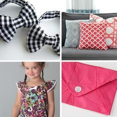 20 easy sewing projects for beginners. I think i could actually do some of these! Bags, pillows, skirts, scarves, kid stuff, and more.