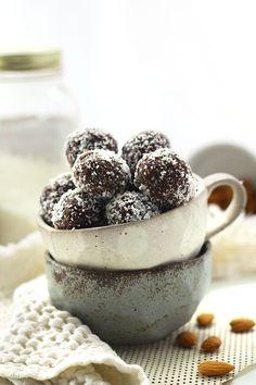 No-Bake Almond Joy Energy Balls - The Healthy Maven