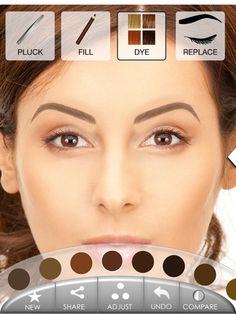 Eyebrows by ModiFace   iPad App Details   PadGadget  Cool free APP that allows upload photo and design brow looks