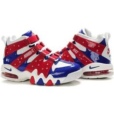 www.asneakers4u.com Charles Barkley Shoes Nike Air Max2 CB 94 White Red Blue 511d19ec02