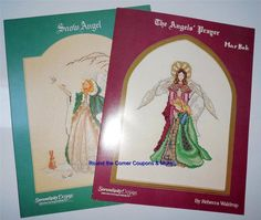 Serendipity Designs Cross Stitch Patterns Lot 2 The Angels Prayer & Snow Mar Bek #SerendipityDesigns #crossstitch