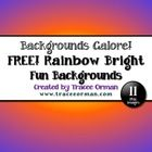 Free Rainbow Bright Digital Paper Clip Art BackgroundsEnjoy this free bundle of colorful backgrounds that can be used for commercial, educational...
