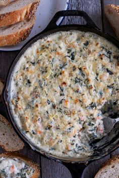 Baked Spinach & Artichoke Shrimp Dip Baked Spinach & Artichoke Shrimp DipThis Baked Spinach Artichoke Dip recipe includes SHRIMP and let me tell you it's a game changer. Dip with toasted bread, crackers or veggies! The perfect easy Game Day Snack Shrimp Dip, Shrimp Appetizers, Appetizer Dips, Appetizer Recipes, Party Appetizers, Baked Shrimp, Party Dips, Dinner Recipes, Baked Spinach Artichoke Dip