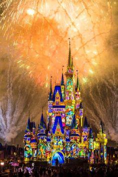 """Happily Ever After"" Arte Disney, Disney Love, Disney Stuff, Disney Parks, Walt Disney World, Chateau Disney, Disney Fireworks, Disney Face Characters, Disney Aesthetic"
