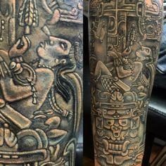 Tatuaje ceremonial de señor botan pakal, palenque Chiapas , danza azteca y temazcales, arte, Hecho por Osvaldo Castillo. Estudio Tatuajes Ofrenda de Sangre, Ciudad de México.