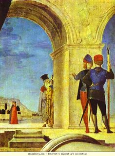 Antonello da Messina. St. Sebastian. Detail. c.1475-76. Wood panel. Alte Meister Gallerie, Dresden, Germany