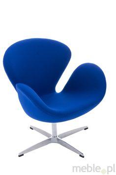 Komfortowy niebieski fotel kaszmirowy Cup, Dkwadrat - Meble