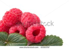 Fruits - Raspberries  isolated on white background.#foodphotos #stockphotos #healthyfood #foodingredients #fruits #ItalianFood #Shutterstock #bio #naturalfood #eatingwell
