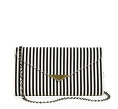 Stripe Canvas Clutch - Blythe//