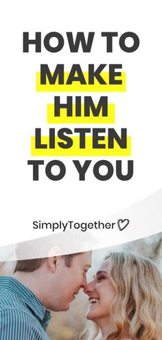 There's nothing more frustrating than your man not listening to you! Here are 4 steps that will help you get his attention and make him hear you out. Relationship Arguments, Relationships Love, Healthy Relationships, Make A Man, Your Man, How To Make, Improve Communication, Need Someone, Good Habits