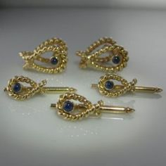 Tiffany & Co Dress Set in – Sapphire Set Dress Set, Diamond Engagement Rings, Tiffany, Studs, Sapphire, Cufflinks, Brooch, Antiques, Silver