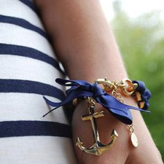Nautical, anchor bracelet