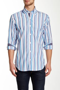 Barrymore Woven Striped Long Sleeve Shirt