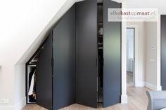 Best Indoor Garden Ideas for 2020 - Modern Attic Bedroom Storage, Attic Bedroom Designs, Loft Storage, Attic Rooms, Closet Bedroom, Attic Wardrobe, Built In Wardrobe, Angled Ceiling Bedroom, Closet Layout