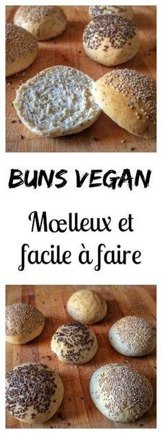 Nouvelle recette de buns vegan super mœlleux et facile à faire ! #vegan #burger #buns