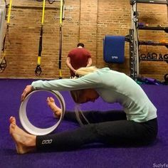 Understand the yoga wheel benefits and try these yoga wheel poses for runners. Check out the YogDev Yoga Wheel and Running Coaches Corner. Difficult Yoga Poses, Dharma Yoga, Basic Yoga, Easy Workouts, Yoga Workouts, Exercises, Pilates, Fitness, Dharma Wheel