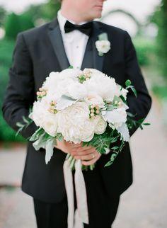 Groom's Attire: Savvi Formalwear - http://www.stylemepretty.com/portfolio/savvi-formalwear-2 Floral Design: Geny's Flowers and Bridal - http://www.stylemepretty.com/portfolio/genys-flowers-and-bridal Photography: Julie Paisley Photography - juliepaisley.com   Read More on SMP: http://www.stylemepretty.com/2016/10/18/classically-elegant-southern-wedding/