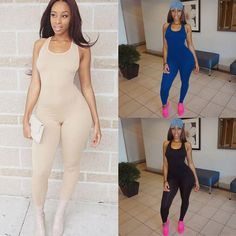 Fashion Women Clubwear Crew Neck Playsuit Bodycon Party Jumpsuit&Romper Trousers