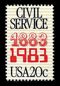 This stamp celebrated the 100th anniversary of the US Civil Service Commission, which has managed federal workers since 1883 and is now known as the Office of Personnel Management.
