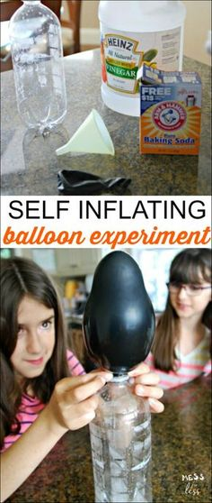 This self inflating balloon experiment will amaze and delight kids. You probably already have all the supplies you need at home for this fun science activity.