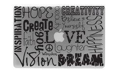 Love Apple tree-Macbook Decals Macbook Decal Macbook Stickers Apple Decal Macbook Pro decal and Macbook Air decal. $6.49, via Etsy.