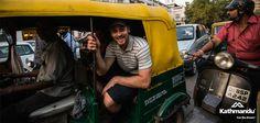 Enjoying the hustle and bustle of the Delhi streets by tuk tuk.