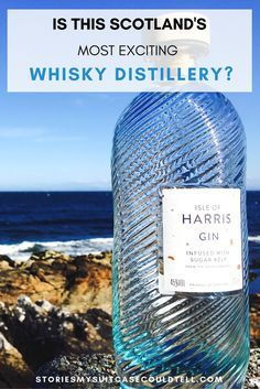 Is this Scotland's most exciting whisky distillery? The Harris Distillery in the Outer Hebrides certainly has the most exciting gin bottles (they're so popular there's a shortage!). Click through or pin for later to find out all about the first distillery on the Isle of Harris!