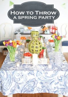 Check out these amazing tips on how to plan the perfect spring fling party! Bunco Party, Easter Party, Spring Social, Spring Cocktails, Spring Party, Party Entertainment, Grad Parties, Shower Party, Party Planning