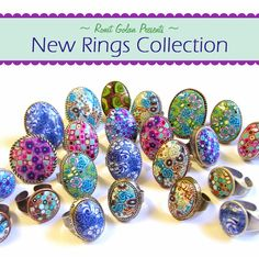 Ronit Golan - Polymer Clay Joy - Inspire to Create: New Polymer clay Rings Collection / Fashion color trends