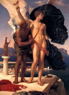Leighton, Edmund Blair - Dédale et Icare (1869)