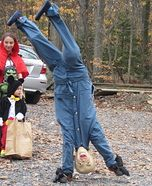 My son Jake wanted to be an upside down baby. It was a cheap costume to make since we had all the materials on hand except for the mask. He had so much fun with this costume and enjoyed making everyone laugh! Halloween Carnival, Halloween Town, Halloween Themes, Halloween Makeup, Halloween 2018, Halloween Stuff, Homemade Halloween Costumes, Halloween Costume Contest, Costume Ideas