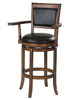 "30""H Swivel Bar Stool Dark Brown Finish by ACME. $159.00. Some assembly may be required. Please see product details.. Dining and Kitchen. Dining and Kitchen->Bar Stools and Tables->Barstools->Wood Barstools. 30""H Swivel Bar Stool Dark Brown Finish. Dimension: 30"" Seat Height Finish: Dark Brown Material: Wood, Bycast Leather  30""H Swivel Bar Stool Dark Brown Finish Item features black bycast leather covered cushion seat and back. Assembly required."