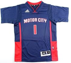 de83a3249cb Reggie Jackson Detroit Pistons #1 NBA Youth New Swingman Short Sleeve Pride  Jersey (Youth Large 14/16)