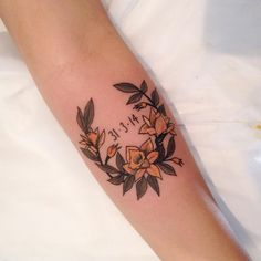 But with Ellie's birth month flowers and birth date