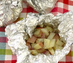 Grilled Potatoes in Foil Packets- easy, yummy potatoes for summer grilling. | Kristine's Kitchen