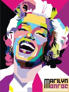 Marilyn Monroe Pop Art by ndop.deviantart.com Artist: Muhammad Ali Mudzofar