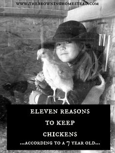 Chickens are a staple on the homestead. But in case you need some convincing, here are 11 reasons to keep chickens, according to a 7 year old.