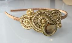 Diadema soutache Soutache Necklace, Tassel Earrings, Boho Jewelry, Fashion Jewelry, Jewellery, Cute Necklace, Beaded Embroidery, Headbands, Cuff Bracelets