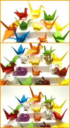 Grulla De Papel Origami Fácil Papiroflexia Origami Easy, Origami Step By Step, Ceilings, Tutorials, Paper Envelopes, Manualidades