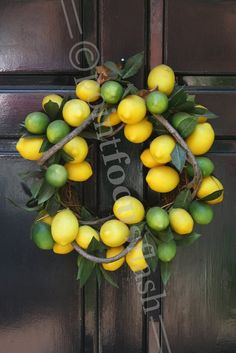With A Twist Lemon/Lime Wreath 5X7 Photo With 8X10 Mat on Etsy, $16.00