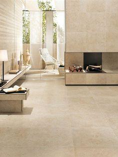 Porcelain stoneware wall/floor tiles SUNROCK by Ceramiche Atlas Concorde #fireplace #interiors @Atlas Concorde