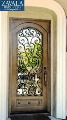 Wrought Iron Entry Doors Single Door SD38003 | eBay
