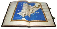 """Universidad de Salamanca. """"Atlas de Ptolomeo"""" (by Ptolemy). CÓDICES iluminados Edad Media y Renacimiento / Illuminated CODEX Middle Ages & Renaissance. Vicent García Editores. FACSÍMILES desde1974 / FACSIMILE Ed since 1974. Premio Gutenberg / Gutenberg Prize. Tel:(+34)963691589 - Valencia (Spain) - vgesa@combios.es - EnglishWebsite: http://www.vgesa.com/facsimile-codex-Virgilius-Beatus-Atlas.htm"""