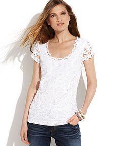 360c01e3070 Macy s. White lace top. Biker Jeans Men