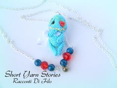Little Amigurumi Crochet Vodoo Doll / Amigurumi Doll Necklace / Collectible  / Vodoo Doll Minature / Miniature Doll Handmade by ShortYarnStories on Etsy
