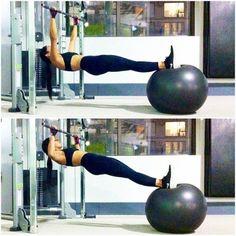Exercise ball chin-ups