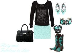 """Flirty and Fabulous in Lace"" by westernglamour on Polyvore"